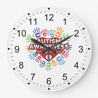Autism Awareness for my Nephew Large Clock