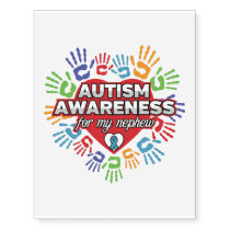 Autism Awareness for my Nephew Temporary Tattoos