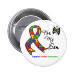 Autism Awareness For My Son 2 Inch Round Button