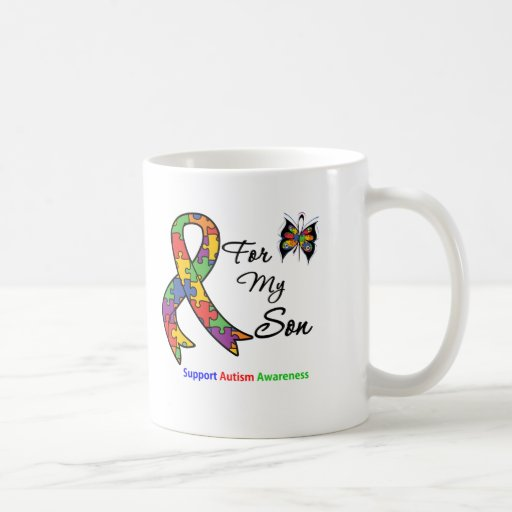 Autism Awareness For My Son Classic White Coffee Mug