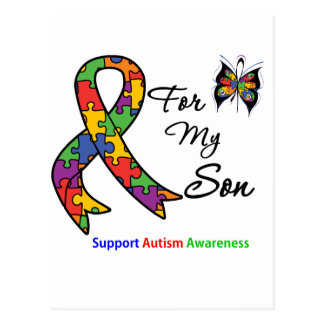 Autism Awareness For My Son Postcard