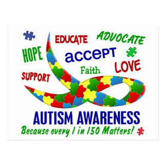 AUTISM AWARENESS FOR THE 1 IN 150 POSTCARD