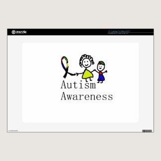 """Autism Awareness Friends 15"""" Laptop Decal"""