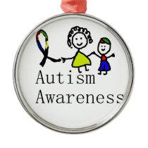 Autism Awareness Friends Metal Ornament