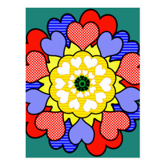 Autism Awareness Friendship Flower - Postcard