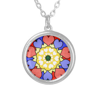 Autism Awareness Friendship Flower - Silver Plated Necklace
