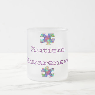 Autism Awareness Frosted Glass Coffee Mug
