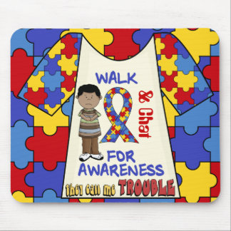 Autism Awareness Fun pad trouble  Mousepad
