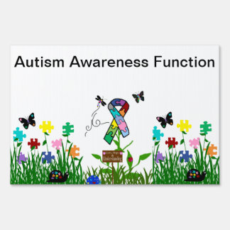 Autism Awareness Garden Yard Sign