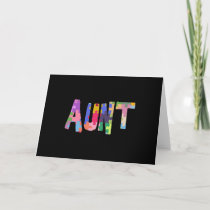 Autism Awareness Gift Autism Support Aunt Card