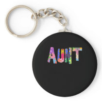 Autism Awareness Gift Autism Support Aunt Keychain