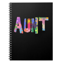 Autism Awareness Gift Autism Support Aunt Notebook