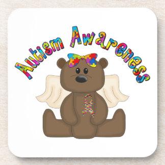 Autism Awareness (girl bear) Drink Coaster