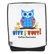 Autism Awareness Give A Hoot Owl Autism Backpack