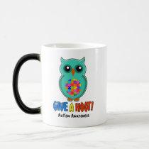 Autism Awareness Give A Hoot Owl Autism Magic Mug