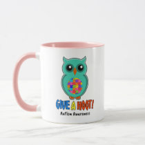 Autism Awareness Give A Hoot Owl Autism Mug