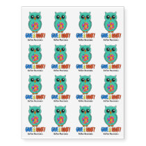 Autism Awareness Give A Hoot Owl Autism Temporary Tattoos