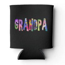 Autism Awareness Grandpa Autism Gift Can Cooler