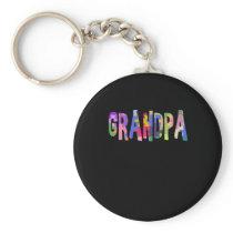 Autism Awareness Grandpa Autism Gift Keychain