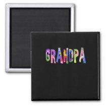 Autism Awareness Grandpa Autism Gift Magnet