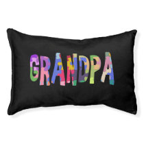 Autism Awareness Grandpa Autism Gift Pet Bed