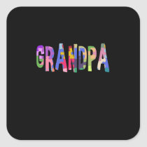 Autism Awareness Grandpa Autism Gift Square Sticker