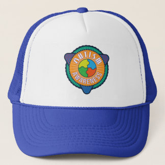 Autism Awareness Graphic Badge Trucker Hat