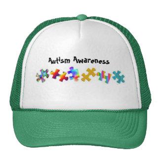 Autism Awareness (Green/White) Hats