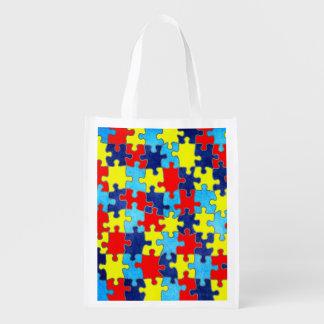 Autism Awareness Grocery Bags