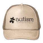 Autism Awareness Hat - Black on Tan