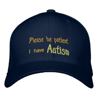 Autism Awareness Hat with name and phone on back Embroidered Baseball Cap