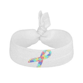 Autism Awareness Headband Ribbon Hair Tie