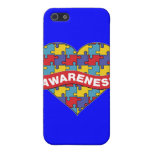 Autism Awareness Heart Banner Cover For iPhone 5