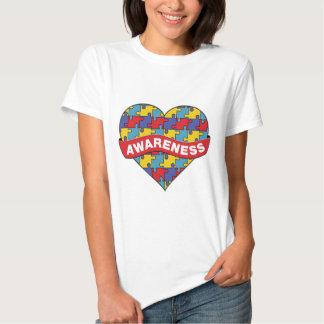 Autism Awareness Heart Banner T Shirt