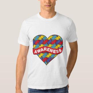 Autism Awareness Heart Banner Tees