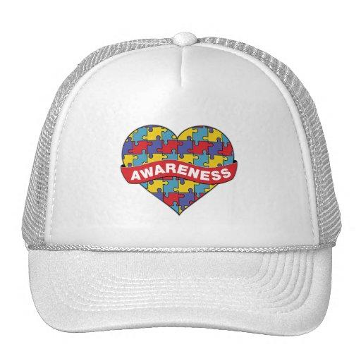 Autism Awareness Heart Banner Trucker Hat
