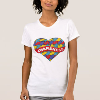 Autism Awareness Heart Banner Tshirt