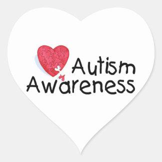 Autism Awareness Heart Heart Sticker