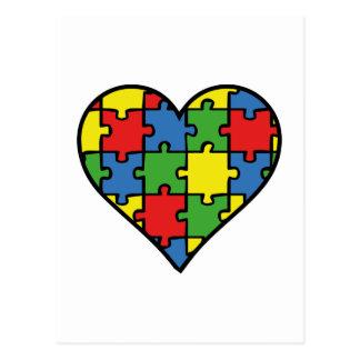 Autism Awareness Heart Postcard