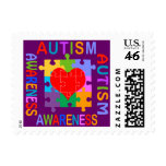 Autism Awareness Heart Stamp