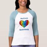 Autism Awareness Heart Tee Shirt