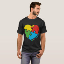 Autism Awareness Heart Tshirt