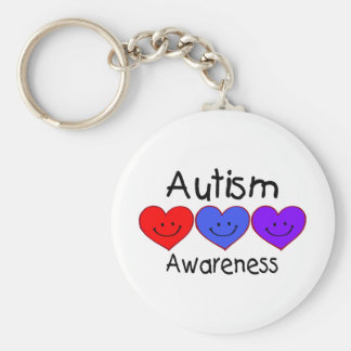 Autism Awareness Hearts Keychain