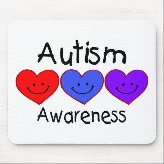 Autism Awareness Hearts Mouse Pad
