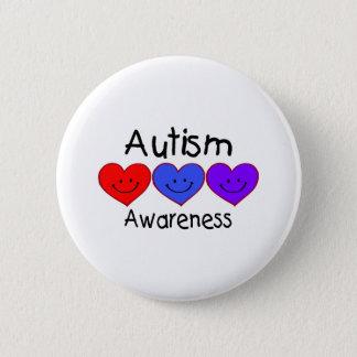 Autism Awareness (Hearts) Pinback Button