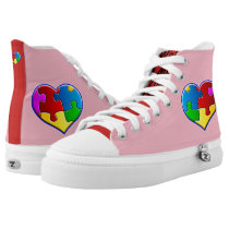Autism Awareness High-Top Sneakers