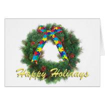 Autism Awareness Holiday Greeting Card