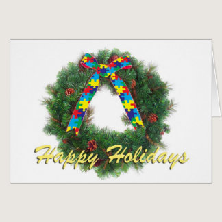 Autism Awareness Holiday Greeting Card