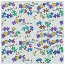 Autism Awareness Hope Fabric