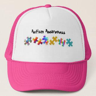 Autism Awareness (Hot Pink/White) Trucker Hat